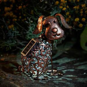 Metal-Solar-Power-LED-Light-Silhouette-Dog-Decorative-Garden-Ornament-Outdoor