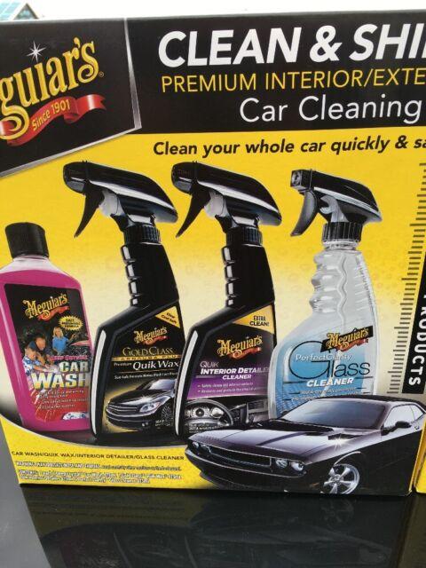 Meguiar S Clean Shine Premium Interior Exterior Car Cleaning Kit Full Size