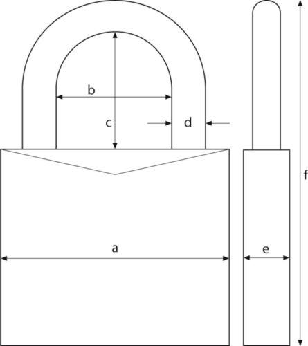 ABUS 64TI//50HB80 TITALIUM-Hangschl Vorhangschloss