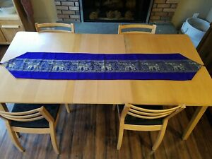 Thai Silk Table Runner Bed Scarf Elephant Tassel Dining Tablecloth Centerpieces Ebay