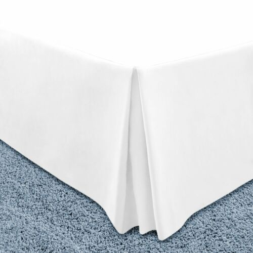 """Pleated Tailored Hotel Collection Bed Skirt 14"""" Drop King Queen Full Size Skirts"""