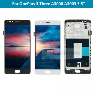 For-OnePlus-1-3-Three-A3000-A3003-LCD-Display-Touch-Screen-Assembly-Frame