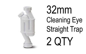 """FREEPOST Shallow Seal with Cleaning Eye 1.1//4/""""//32mm UK SELLER NEW Bath Trap"""