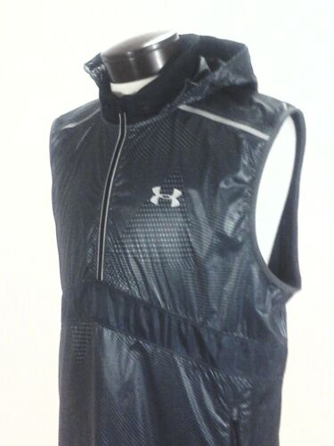 Under Armour Running Hooded Vest Gray Silver Reflective1290253 Men/'s $99.99 New