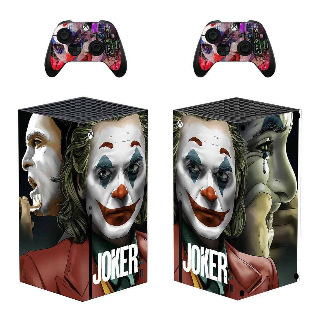 The Joker Vinyl Skin Sticker Full Set for Xbox Series X Console & 2 Controllers