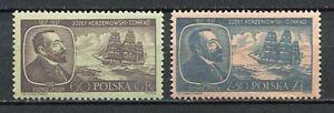 35646) . Poland 1957 MNH Joseph Conrad - Ships 2v
