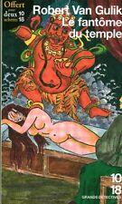 Livre de Poche 10/18 le fantôme du temple Robert Van Gulik book
