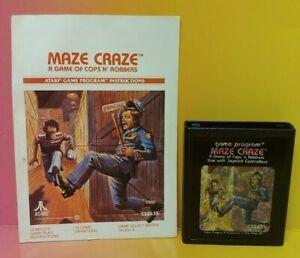 Atari-2600-Maze-Craze-Game-amp-Instruction-Manual-Tested-Works-Rare