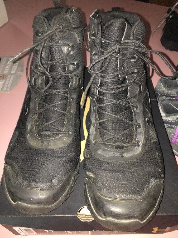 Under Armour Men's Valsetz RTS Side Zip 1257847-001 Tactical Boot Black Size 11