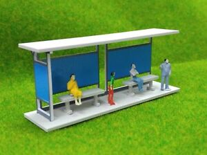 1-87-HO-Scale-Gauge-Model-Train-Railway-Layout-Shelter-Station-Bus-Stop-Building