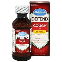 Hyland's Defend Natural Cough Syrup 4 Oz (pack Of 6) on sale