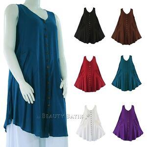 1f7a9d1bd5a Image is loading BeautyBatik-Women-Lagenlook-Plus-Size-Vest-Tunic-Top-