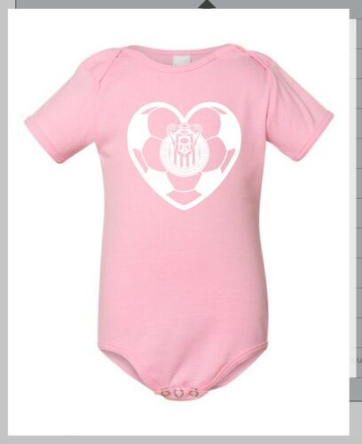 new baby newborn deportivo chivas de guadalajara jump suit pink