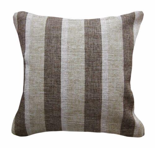 Qa102Ba Light Brown Rough Linen Blend Check Stripe Cushion Cover//Pillow Case*Siz