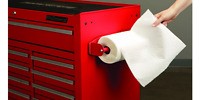 Magnetic Paper Towel Holder Auto Garage Shop Toolbox Metal Surface Home Office
