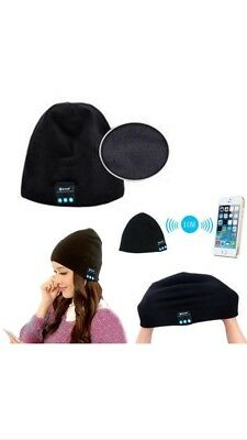 Headset cappello Natale caldo Bluetooth Beanie Wireless Cuffie Cap musica Vivavoce 8CS5qw