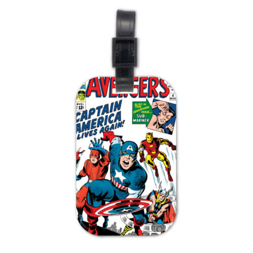 The Avengers Super Hero Lovely Wood Travel Luggage Tag Bag Accessory