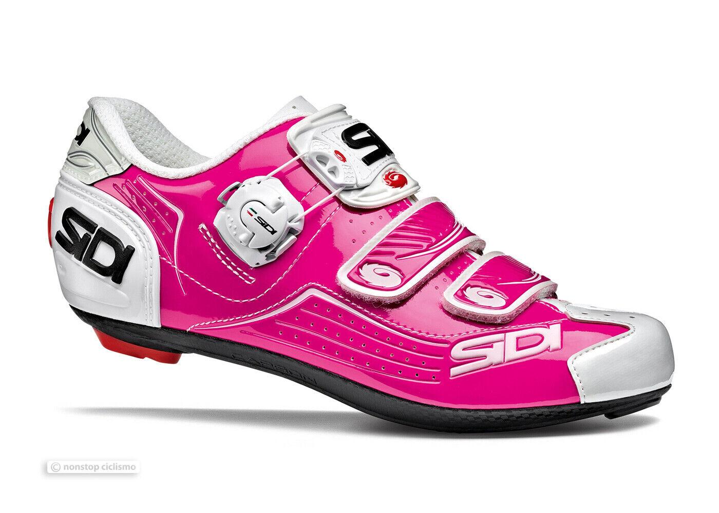 Sidi 2019 ALBA para mujer road cycling zapatos  Fucsia blancoo-Nuevo En Caja