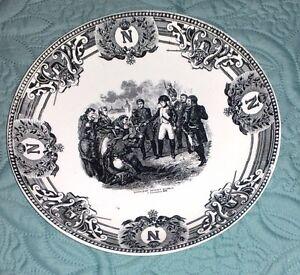 Napoleon-devant-Madrid-piatto-ceramica-Vintage-Boch-F-la-Louviere