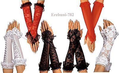 Armstulpen mit Spitze und Schnürung Armstulpen aus Spitze Netz-Armstulpen