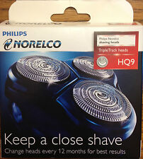 NORELCO HQ9 HQ 9 Speed XL Razor Shaver Blade 3 Heads Philips Philishave NEW