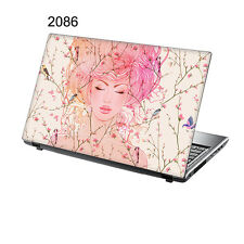 "TaylorHe 15.6"" Laptop Vinyl Skin Sticker Decal Beautiful Lady Pink Blossom  2086"