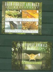 Montserrat 2009-forêt Tropicale-chauve-souris Iguane Aguti Serpent 1476-79 + Bloc 129 Amener Plus De Commodité Aux Gens Dans Leur Vie Quotidienne
