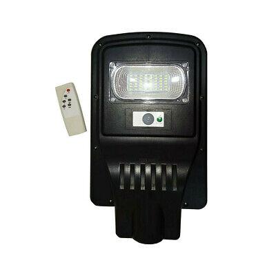 LAMPIONE STRADALE LED 30W PANNELLO ENERGIA SOLARE LUCE ESTERNO IP65 TELECOMANDO
