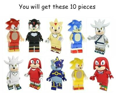 Sonic The Hedgehog Minifigure Fit Lego Kids Toy Collection Birthday Gift 10pcs Ebay