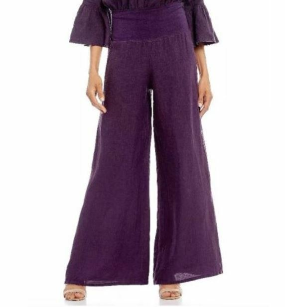 Bryn Walker Oscar Myth Purple Linen Pants XL