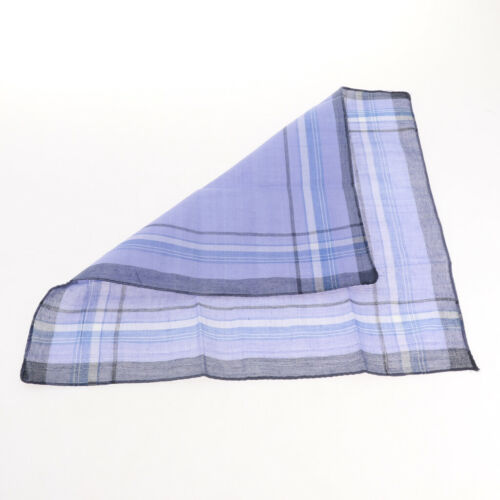 Pack of 12 Plaid Pattern Handkerchiefs Soft Square Pocket Towel for Men