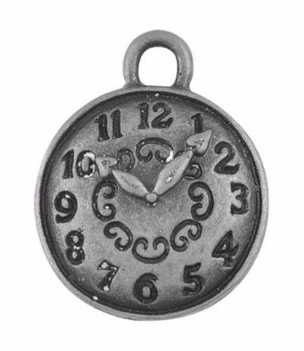 20 Tibetan Silver Cadran Breloque Alice au pays des merveilles 15 mm montre pendentif