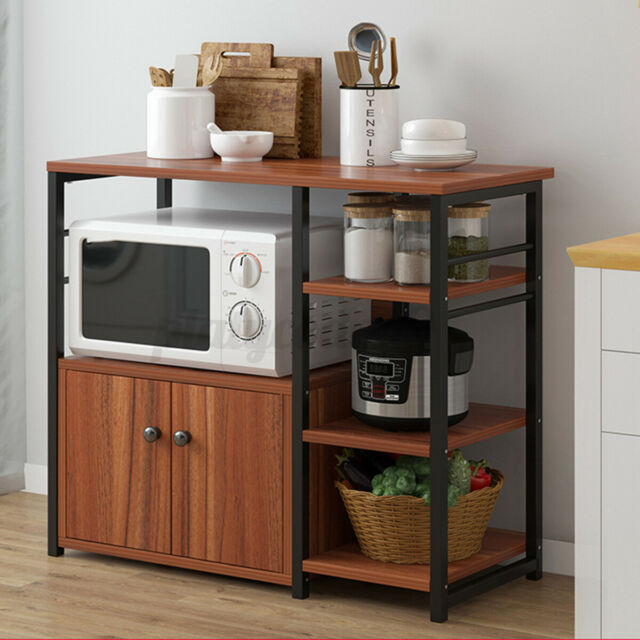 Highlander Kitchen Stand Cupboard Black Silver Is For Sale Online Ebay