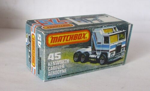 Repro Box Matchbox Superfast Nr.45 Kenworth Cabover Aerodyne
