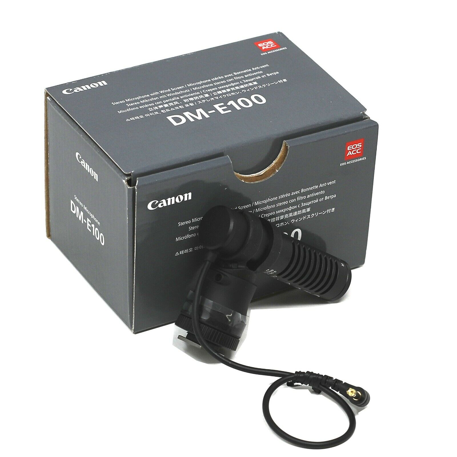 Canon Stereo Microphone DM-E100 - 2 Year Warranty - UK NEXT DAY DELIVERY