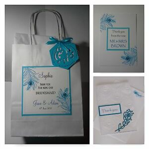 Wedding Gift Bag Cards : ... -FEATHER-wedding-THANK-YOU-CARDS-amp-GIFT-BAG-3-designs-60-colours