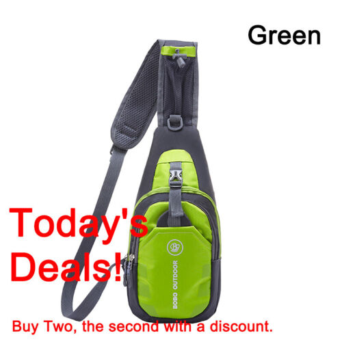 Waterproof Small Chest Bag Travel Sport Shoulder Sling Backpack Cross Body UK