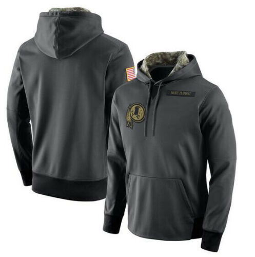 Details about  /Washington Redskins Anthracite Salute to Service Sideline Therma Pullover Hoodie