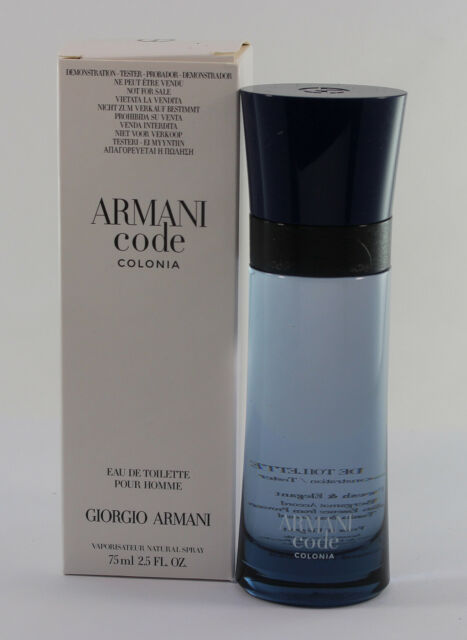 008250fc3 Armani Code Colonia Tster for Men Edt 2.5 OZ 75 ML Spray New In Tster Box  for sale online