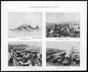 1899-Antique-Print-JERSEY-Wreck-Stella-Casquet-Rocks-Pier-Boat-Crowds-279
