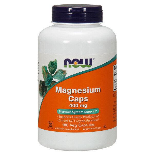 Magnesio - 400mg X 180 Cápsulas Vegetarianas, Migrañas, Asma, Calambres, Pms-