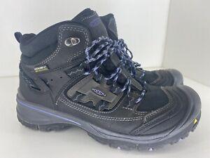 KEEN Logan Mid WP Waterproof Hiking Boots Black Women's Size 9
