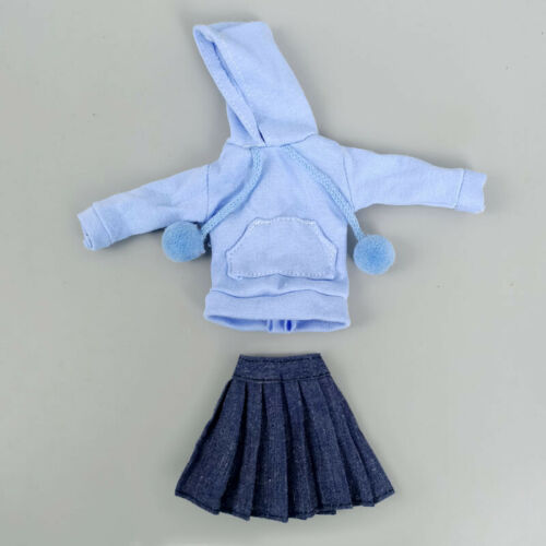 """Black Top Hoodies Sweatshirt Pleated Skirts Clothes for 11.5/"""" Doll Outfits 1//6"""