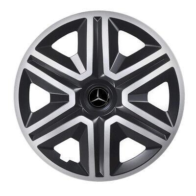 "16/"" Adornos De Rueda Para Mercedes Vito Taxi-Negro//Plateado 4x16/'/'"