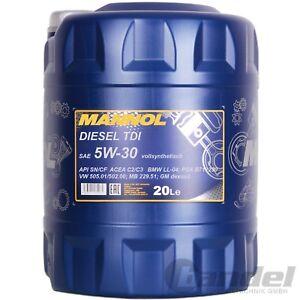 3 20 l 20 liter sae 5w 30 mannol diesel tdi motor l vw. Black Bedroom Furniture Sets. Home Design Ideas