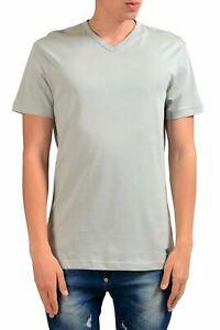 Versace-Jeans-Men-039-s-Gray-Short-Sleeve-V-Neck-T-Shirt-Size-XS-S
