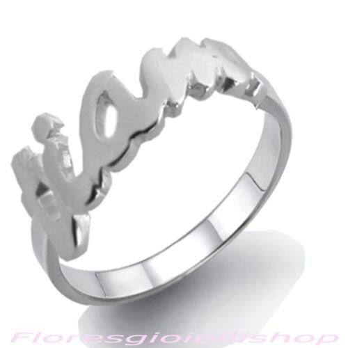 Anello con scritta TI AMO in argento massiccio love ring firmato Flores
