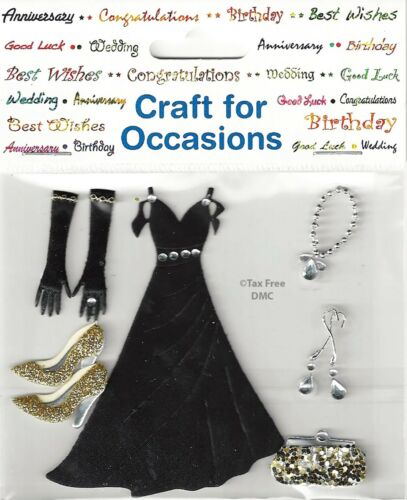VAT Free Trimits Craft Card Making Stickers Black Occasions Dress /& Accessories