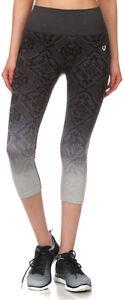 Women-039-s-Activewear-Seamless-Ombre-Jacquard-Capri-Pants-Leggings