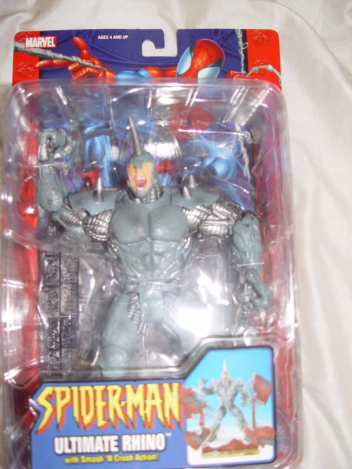 ToyBiz Marvel's Ultimate Spider-man Rhino variant (2004) MOC